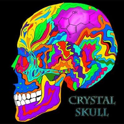 Räuchermischung Kräutermischung Crystal Skull Retro